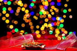 Weihnachtsdekoration, Weihnachten und Neujahr Urlaub Hintergrund foto