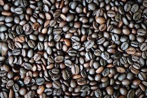 geröstete Kaffeebohnen Hintergrund. foto