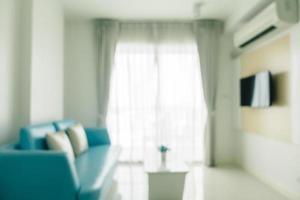 abstrakte Unschärfe und defokussierte Wohnzimmereinrichtung und Dekoration foto