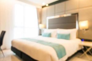abstrakte Unschärfe defokussiert Schlafzimmer Interieur foto