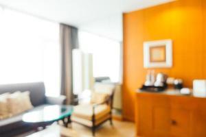 abstrakte Unschärfe und defokussierte Wohnzimmereinrichtung foto