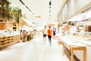 abstrakte Unschärfe und defokussiertes Café-Café- und Restaurant-Interieur für den Hintergrund foto