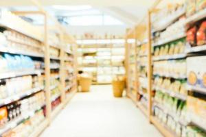 abstrakte Unschärfe und defokussierter Supermarkt foto