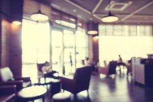 abstrakte Unschärfe und defokussiertes Café foto