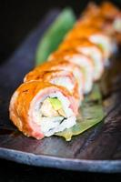 Matsusaka und Wagyu Beef Sushi foto