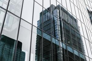 Wolkenkratzer moderne Bürogebäude Stadt. hochwertiges schönes Fotokonzept foto