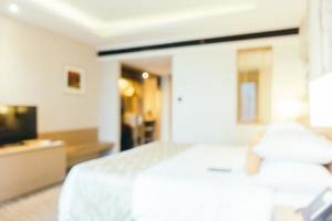 abstrakte Unschärfe und defokussiertes Schlafzimmerinterieur foto
