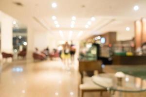 abstrakte Unschärfe Hotel- und Lobby-Interieur foto