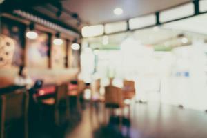 abstrakte Unschärfe Café foto