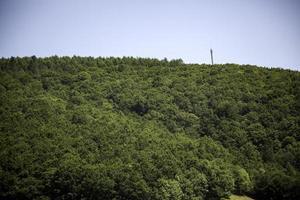 Landschaft mit Bergen foto