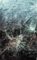 abstraktes Bild der zerbrochenen Glasstruktur foto