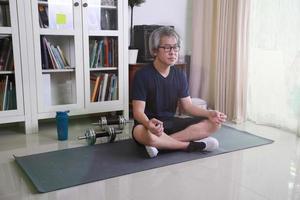 asiatischer Mann Training foto