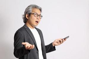 älterer asiatischer Mann foto