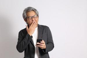 asiatischer Mann isoliert foto