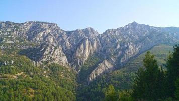 Aussicht auf die Bergspitze foto
