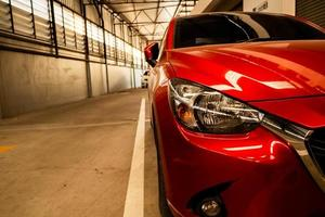 rotes Auto Rücklicht foto