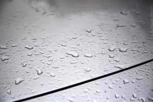 Glas Regentropfen detail foto