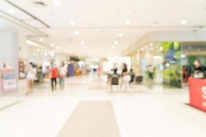 abstraktes Unschärfe-Einkaufszentrum und Einzelhandelsgeschäft für den Hintergrund foto