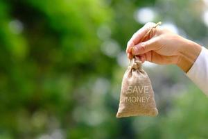 Geld sparen und Geschäftswachstumskonzept, Finanz- und Investitionskonzept foto