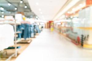 abstrakter Unschärfe-Shop und Einzelhandelsgeschäft im Einkaufszentrum für Hintergrund foto
