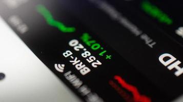 Graph Handel Forex Geschäftsinvestitionen auf dem Bildschirm Handy Soft Focus foto
