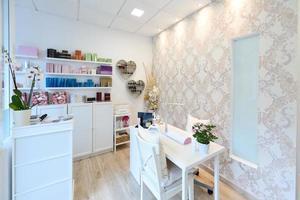 Empfang von Beauty-, Wellness- und Spa-Salon. foto