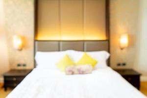 abstrakte Unschärfe Hotel Schlafzimmer Interieur für Hintergrund for foto