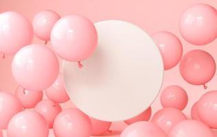 die 3D-Ballons für die Home-Party foto