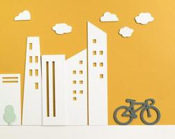 Transportkonzept mit Fahrrad foto