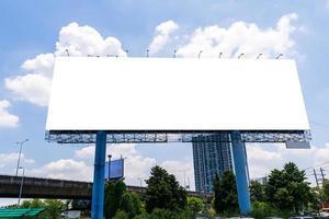 große Plakatwand im Freien foto