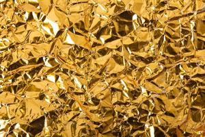 Goldpapier zerknitterte Textur Hintergrund foto