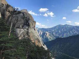 Die Aussicht vom Berggipfel des Seoraksan-Nationalparks. Südkorea foto