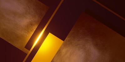 Blattgold Textur Hintergrund schwarz und gelb Rahmen Bodenniveau elegante kraftvolle 3D-Darstellung foto