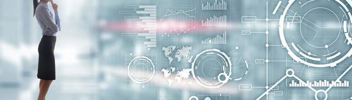 Website-Banner, Investment-Dashboard. Diagrammdiagramm Aktienhandel transparenten betriebswirtschaftlichen Hintergrund. foto