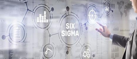 Six Sigma. Managementkonzept zur Verbesserung der Arbeitsqualität einer Organisation oder einer separaten Einheit. foto