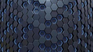 hellblauer Sechseck abstrakter Hintergrund foto