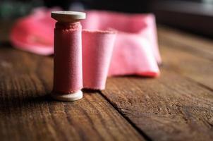 Baumwollband für Brautstrauß foto