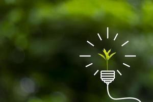 3D-Darstellung des Konzepts der erneuerbaren Energien foto