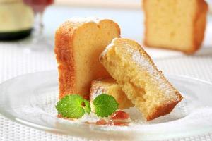 Stücke von Pfundkuchen foto