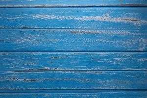blaue Holztisch-Draufsicht mit Textfreiraum foto