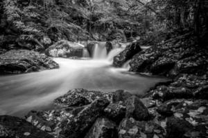 malerische Landschaft von Virginia Creeper Trail im Herbst foto