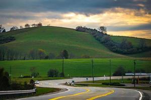 malerische Herbstlandschaft in West Virginia foto