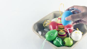 Osterei-Konzept. Feier oder Fest foto