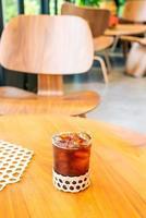 Iced Americano Kaffeeglas im Café Café Restaurant? foto