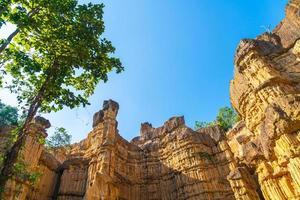 Pha Chor oder der Grand Canyon Chiangmai im Mae Wang Nationalpark, Chiang Mai, Thailand foto