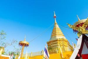 Wat Phra That Doi Kham oder Tempel des goldenen Berges foto