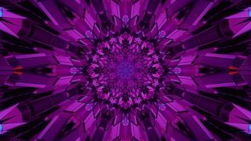 4k uhd 3D-Darstellung der symmetrischen Kristallverzierung foto