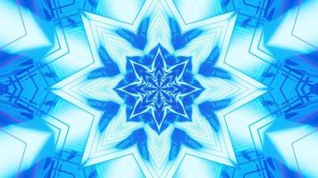 hellblaues abstraktes Ornament 4k uhd 3D-Darstellung foto