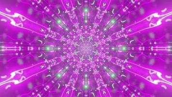 kaleidoskopische rosa abstrakte Verzierung 4k uhd 3d illustration foto