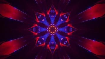 4k uhd 3D-Darstellung von psychedelischem Ornament foto